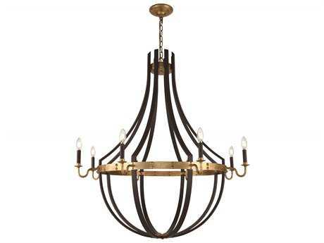 Elegant Lighting Woodland Saddle Rust / Golden Iron 43'' Wide