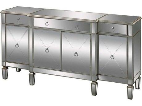Elk Home Champagne Silver Leaf / Clear Mirror Buffet EK6043618