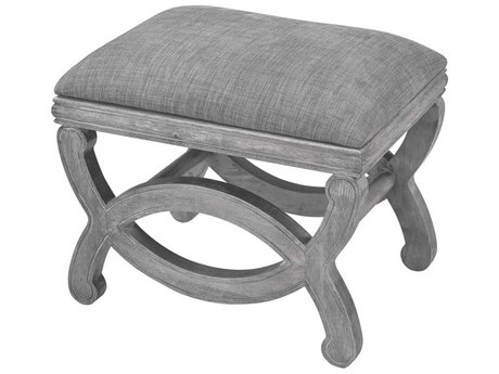 Elk Home Reclaimed Grey Wood / Chenille Accent Bench