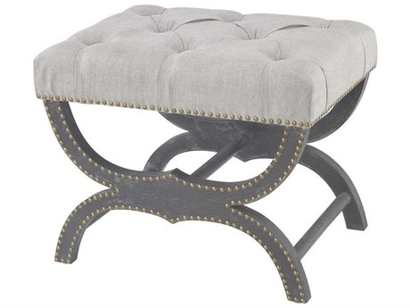 Elk Home Aged Black / Grey Linen Accent Bench