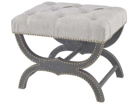 Elk Home Aged Black / Grey Linen Accent Bench