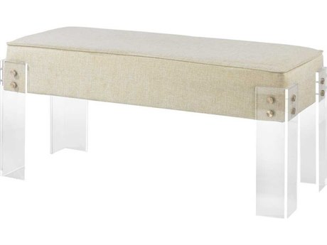 Elk Home Clear / Cream Accent Bench