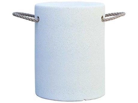 Elk Home Chalk White / Natural Rope Accent Bench EK857224