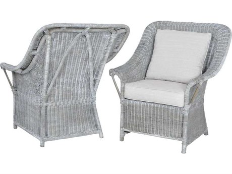 Elk Home Waterfront Grey Stain / Whitewash Accent Chair (Set of 2)