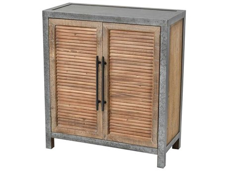 Elk Home Drifted Oak / Aged Iron Accent Chest