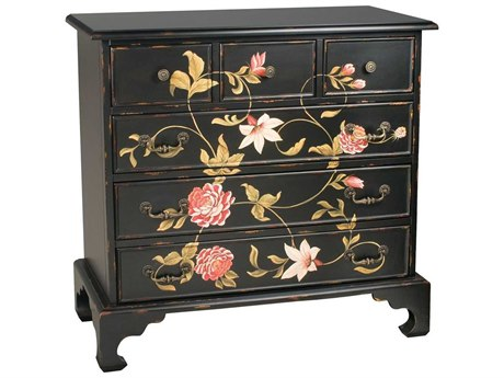 Elk Home Black / Cream Green Accent Chest EK521687