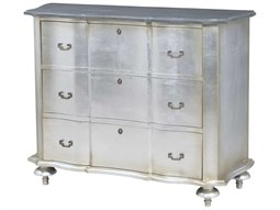 Antique Silver Leaf / Smoke Accent Chest