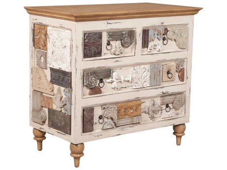 Elk Home Artisan Dark Stain / Legacy Pearl Accent Chest
