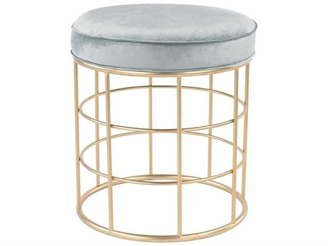 Elk Home Duck Egg Blue / Gold Accent Stool