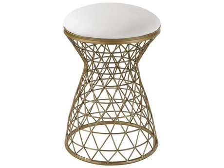 Elk Home Cream / Gold Accent Stool