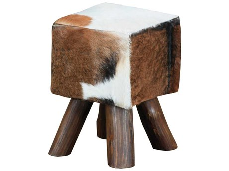 Elk Home Natural Stain Accent Stool
