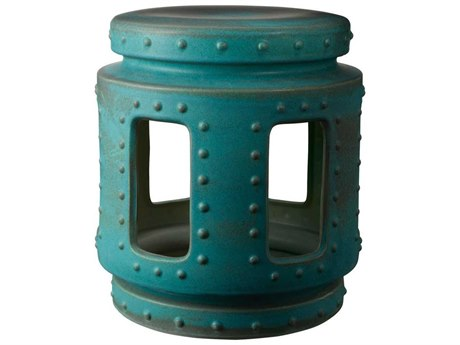 Elk Home Turquoise Accent Stool