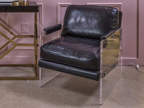 Elk Lighting Air To The Throne Black / Clear Accent Chair EK1221003