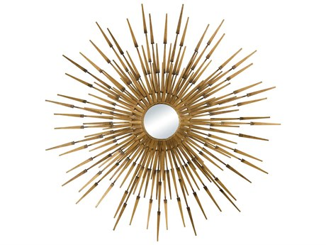 Elk Lighting Akahanga Antique Gold 39.8'' Sunburst Wall Mirror