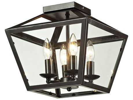 Elk Lighting Alanna Oil Rubbed Bronze Four-Light 12'' Wide Semi-Flush Mount Light
