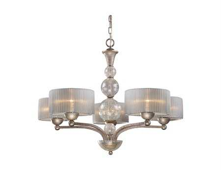 Elk Lighting Alexis Antique Silver Five-Light 32'' Wide Chandelier EK200095