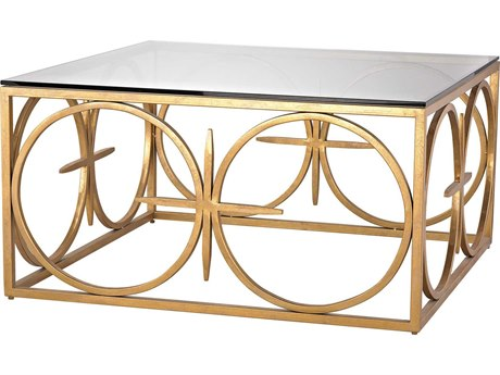Elk Lighting Amal Antique Gold Leaf 36'' Square Coffee Table