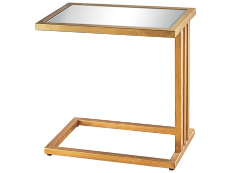 Elk Lighting Andy 20'' x 12'' Rectangular Gold Leaf & Clear Mirror End Table