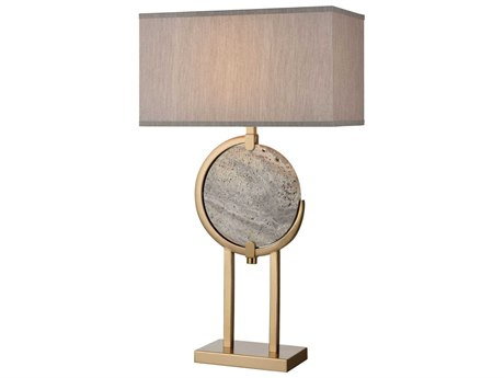Elk Lighting Arabah Grey Marble / Cafe Bronze Buffet Lamp EKD4113