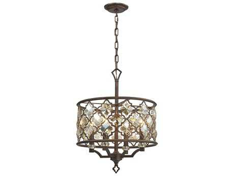 Elk Lighting Armand Weathered Bronze Four-Light 17'' Wide Pendant