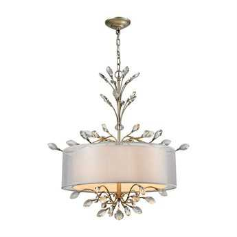 Elk Lighting Asbury Aged Silver Four-Light 26'' Wide Chandelier
