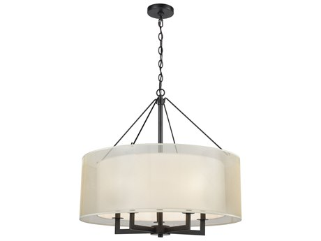 Elk Lighting Ashland Matte Black 26'' Wide Pendant