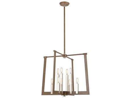 Elk Lighting Axis Light Wood / Satin Nickel 24'' Wide Medium Chandelier