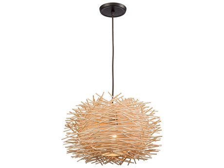 Elk Lighting Bamboo Nest Oil Rubbed Bronze 16'' Wide Pendant