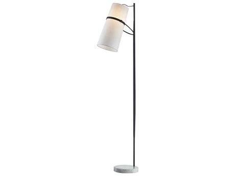 Elk Lighting Banded Shade Matte Black Led Floor Lamp D2730 Hue D