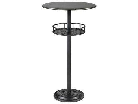 Elk Home Dark Pewter / Galvanized Steel 22'' Wide Round Bar Height Dining Table