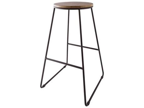 Elk Home Black Iron / Natural Wood Stain Side Bar Height Stool