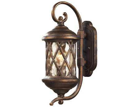 Elk Lighting Barrington Gate Hazelnut Bronze & Designer Water Glass Outdoor Wall Light EK420301