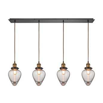 Elk Lighting Bartram Oil Rubbed Bronze Four-Light 46'' Wide Pendant