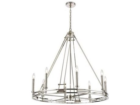 Elk Lighting Bergamo Polished Nickel 36'' Wide Medium Chandelier
