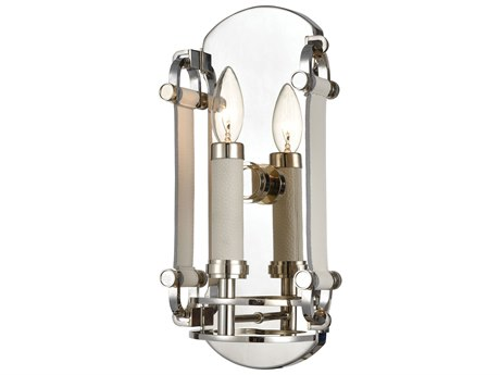 Elk Lighting Bergamo Polished Nickel Wall Sconce
