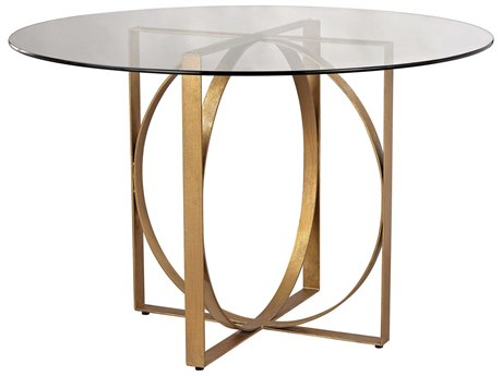 Elk Lighting Box Rings 48'' Round Gold Leaf Entry Table EK1114178