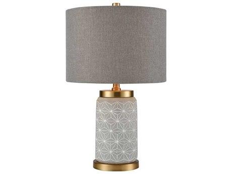 Elk Lighting Brahe Concrete / Matte Gold Table Lamp