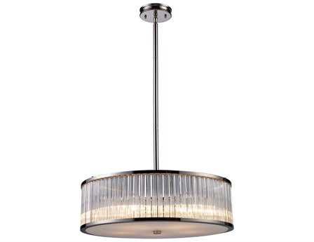 Elk Lighting Braxton Polished Nickel Five-Light 24'' Wide Pendant