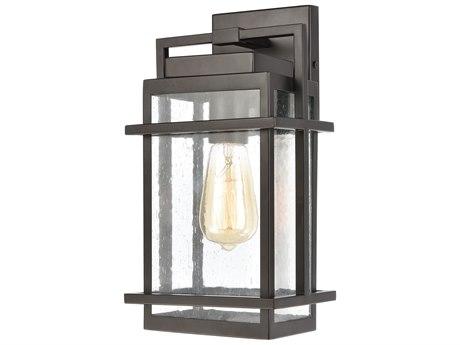 Elk Lighting Breckenridge Matte Black Glass Outdoor Wall Light