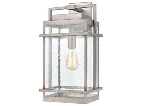 Elk Lighting Breckenridge Weathered Zinc Glass Outdoor Wall Light