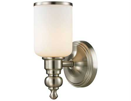 Elk Lighting Bristol Brushed Nickel Bath Wall Sconce EK115801