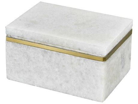 Elk Lighting Buenos Aires White Marble / Gold Jewelry Box EK4209050