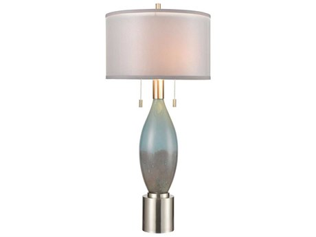 Elk Home Brushed Nickel Two-Light Glass Buffet Lamp EKD4239