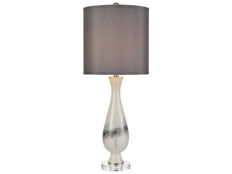Elk Home White / Clear One-Light Crystal Glass Buffet Lamp EKD4286