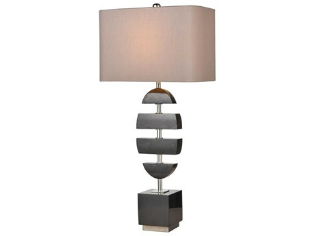 Elk Home Black Marble / Polished Nickel One-Light Buffet Lamp EKD4317