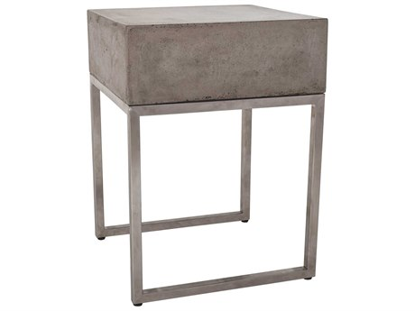 Elk Lighting Bulwark Waxed Concrete & Stainless Steel 15.8'' Square End Table