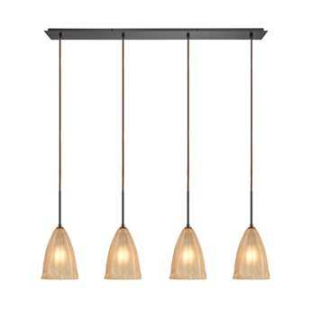 Elk Lighting Calipsa Oil Rubbed Bronze Four-Light 46'' Wide Pendant