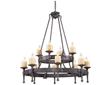 Elk Lighting Cambridge Moonlit Rust 12-Light 42'' Wide Chandelier EK14006844