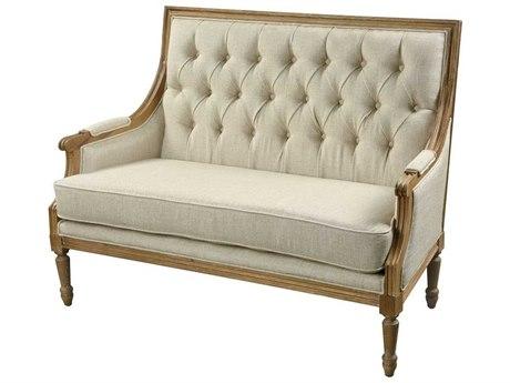 Elk Home Lotus Linen / Washed Wood Chair and a Half EK1204015