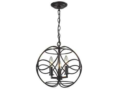 Elk Lighting Chandette Oil Rubbed Bronze Three-Light 14'' Wide Pendant